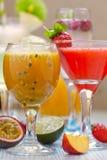Cocktail de fruto da paixão Imagem de Stock Royalty Free