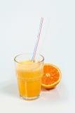 Cocktail de fruto em um copo com um straw4 Imagem de Stock