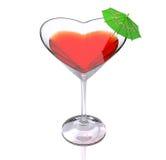 Cocktail de l'amour Image libre de droits