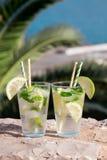 Cocktail de l'eau de seltz de boissons d'été Images stock