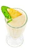 Cocktail de lait d'ananas Photo libre de droits