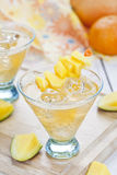 Cocktail de mangue Photographie stock libre de droits