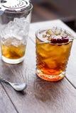 Cocktail de Manhattan Imagem de Stock Royalty Free
