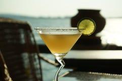 Cocktail de Margarita no por do sol Fotografia de Stock Royalty Free