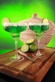 Cocktail de Margarita no verde Fotografia de Stock Royalty Free