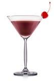 Cocktail de martini d'expresso ou de café d'isolement sur le fond blanc Image libre de droits