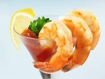 Cocktail de Martini de crevette photographie stock libre de droits