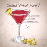 Cocktail de Martini do francês ilustração royalty free