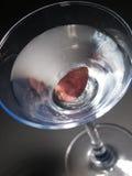 Cocktail de Martini sur le fond noir Image libre de droits