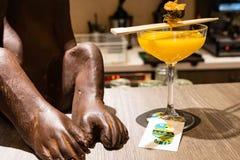 Cocktail de Martini de sushi photographie stock