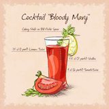 Cocktail de Mary sanglante illustration stock