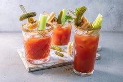 Cocktail de Mary sanglante photographie stock libre de droits