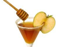 Cocktail de miel de Roah Hashana Photographie stock