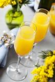Cocktail de mimosa photographie stock