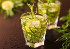 Cocktail de Mojito avec l'estragon frais Image libre de droits