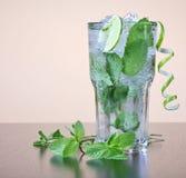 Cocktail de Mojito avec le leav en bon état Images libres de droits