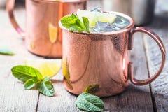 Cocktail de mule de Moscou images stock