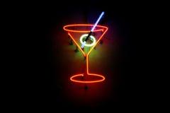 Cocktail de néon imagens de stock royalty free