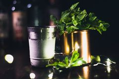 Cocktail de Nana Leaves fotografia de stock royalty free