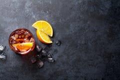 Cocktail de Negroni Imagens de Stock
