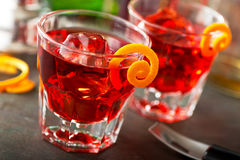 Cocktail de Negroni Fotografia de Stock