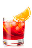 Cocktail de Negroni com laranja Imagens de Stock Royalty Free