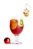 cocktail de Noël décoré Images stock