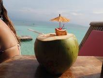 Cocktail de noix de coco Photographie stock