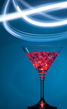 Cocktail 2014 de nouvelle année sur le fond bleu Photos stock