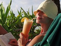 Cocktail de plage Photos stock