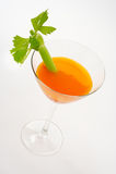 Cocktail de raccord en caoutchouc et de céleri Photographie stock