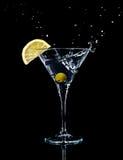 Cocktail de vermouth en glace de martini photo libre de droits