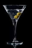 Cocktail de vermouth en glace de martini image libre de droits