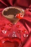 Cocktail dei biglietti di S. Valentino immagine stock