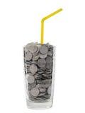 Cocktail dei soldi Immagini Stock