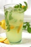Cocktail del basilico del limone Immagini Stock Libere da Diritti
