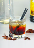 Cocktail del caffè con vodka fotografie stock libere da diritti