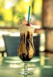 Cocktaildel caffè di con rum e crema Fotografia Stock Libera da Diritti