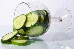 Cocktail del cetriolo fotografia stock