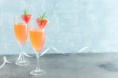 Cocktail del champagne della mimosa Fotografia Stock Libera da Diritti