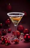 Cocktail del champagne di Natale Fotografia Stock Libera da Diritti