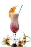 Cocktail del latte con l'arancio Fotografia Stock