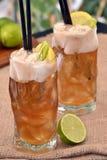 Cocktail del limone del tè Fotografia Stock Libera da Diritti