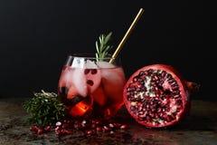 Cocktail del melograno fotografia stock libera da diritti