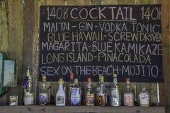 Cocktail del menu fotografia stock libera da diritti