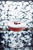 Cocktail del mirtillo rosso in un vetro di cocktail Immagine Stock Libera da Diritti