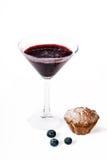 Cocktail del muffin ai mirtilli Fotografie Stock