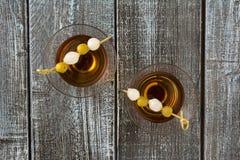 Cocktail del whiskey da sopra immagine stock