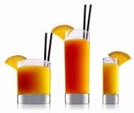 Cocktail dell'alcool isolato su fondo bianco Fotografia Stock Libera da Diritti