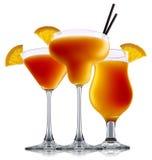 Cocktail dell'alcool isolato su fondo bianco Fotografia Stock